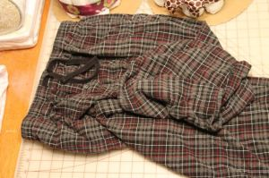 Pair of flannel jam-pants that were beyond repair.