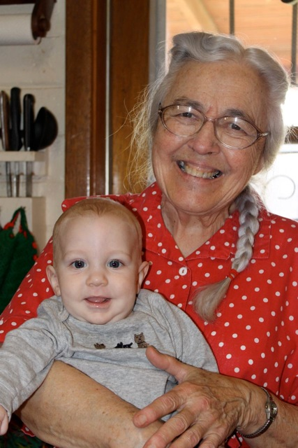 Flynn and his great-grandma