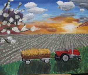 """Field of Dreams,"" painted on canvas using acrylics."